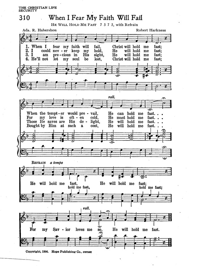 The New Christian Hymnal page 268