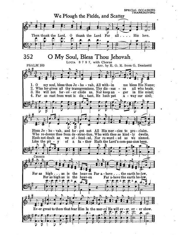 Lyric lyrics to bless the lord oh my soul : O My Soul, Bless Thou Jehovah | Hymnary.org