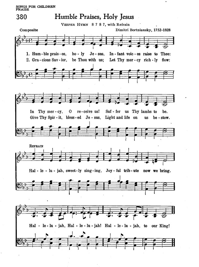 The New Christian Hymnal 380. Humble praises, holy Jesus | Hymnary.org