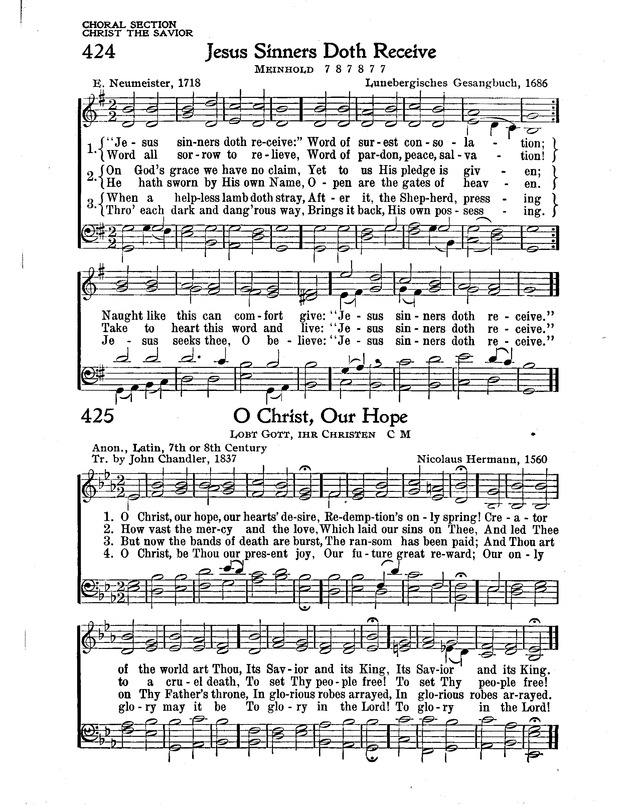 The New Christian Hymnal 425  O Christ, our hope, our hearts