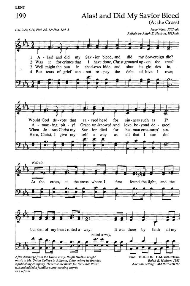 The New Century Hymnal 199. Alas! and did my Savior bleed ...
