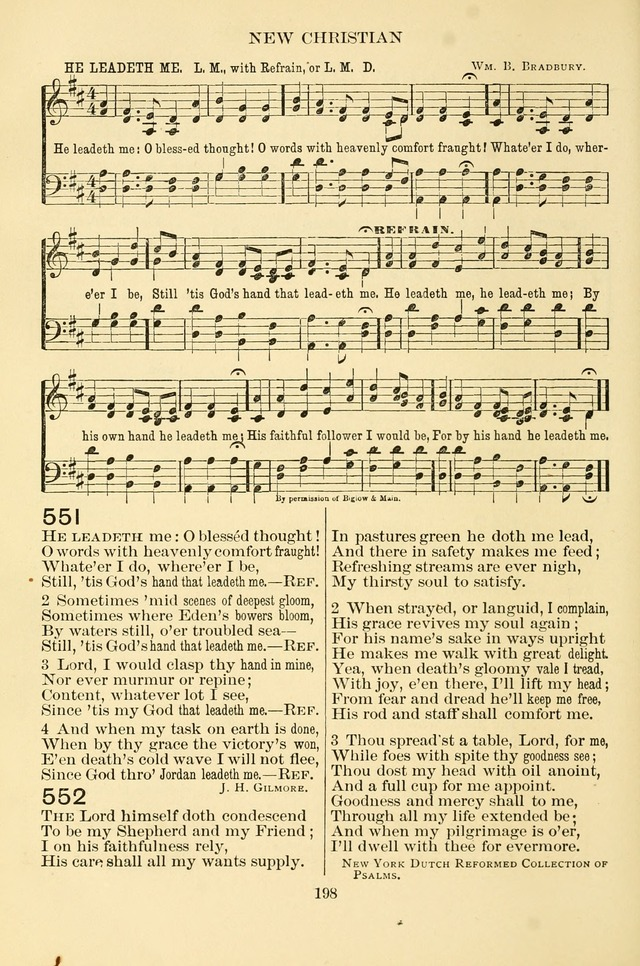 New Christian Hymn and Tune Book page 198