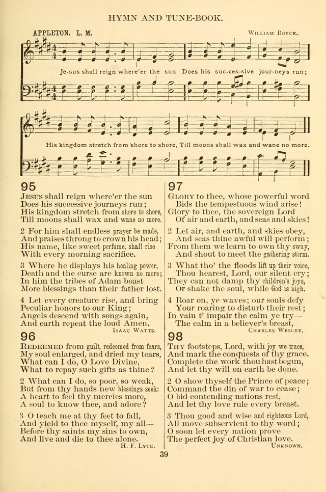 New Christian Hymn and Tune Book page 39