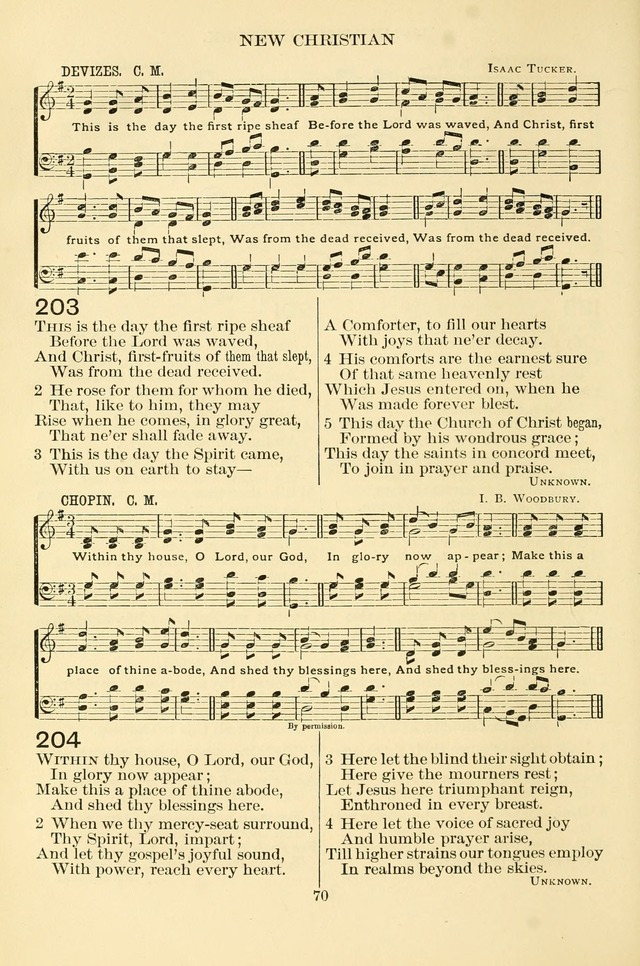 New Christian Hymn and Tune Book page 70