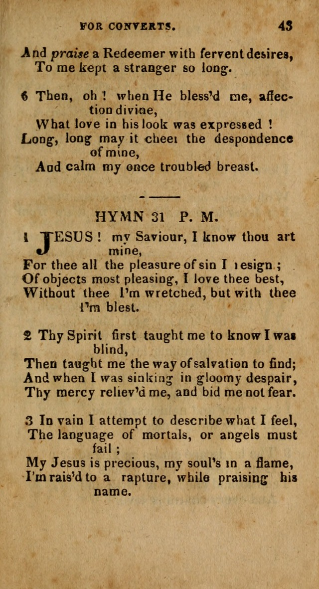 The New England Collection of Hymns and Spiritual Songs: adapted to prayer, conference and camp-meetings page 47
