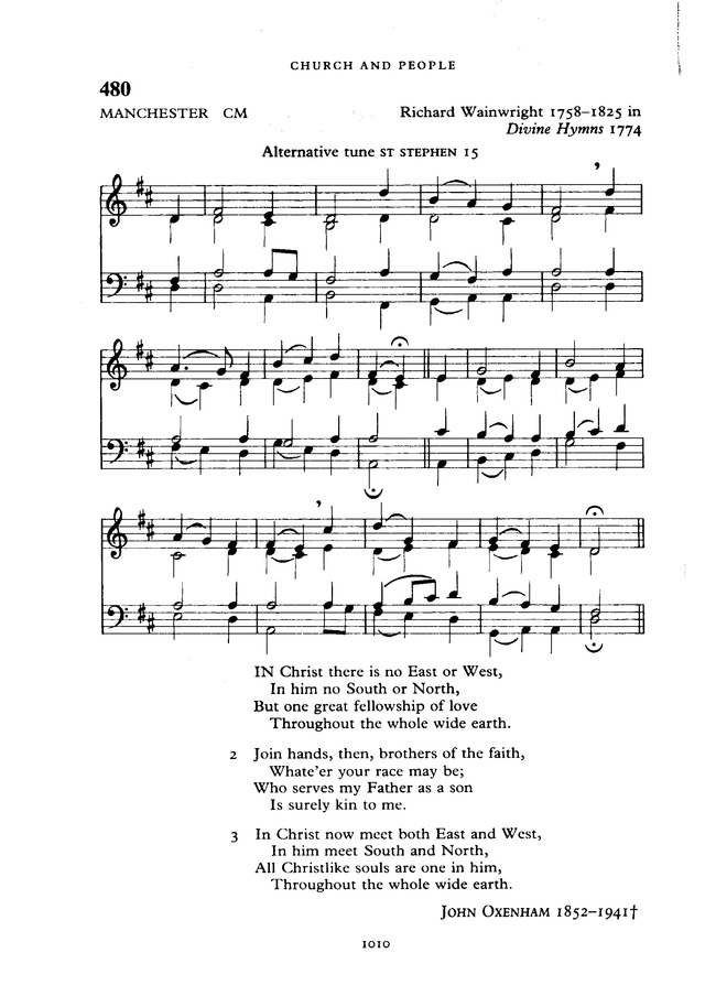 The New English Hymnal page 1011