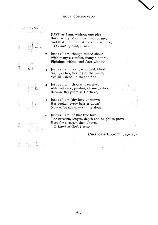 Lyric just as i am without one plea lyrics : The New English Hymnal 294. Just as I am, without one plea ...