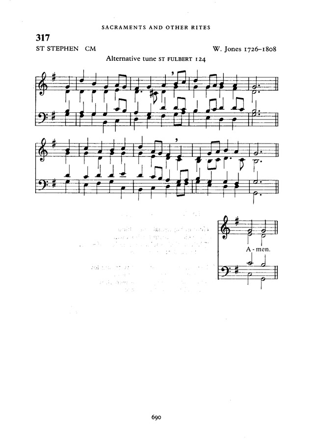 The New English Hymnal page 691
