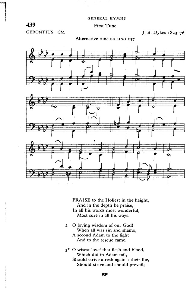 The New English Hymnal page 931