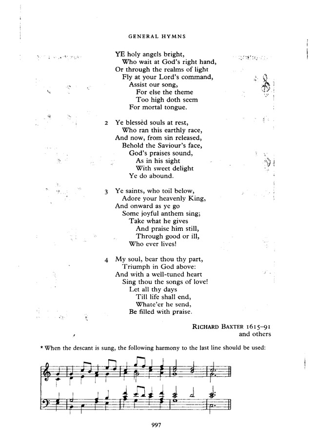 The New English Hymnal page 998