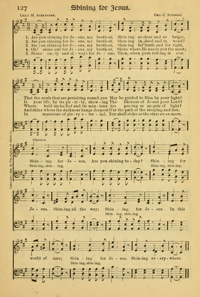 Northfield Hymnal: for use in evangelistic and church services, conventions, sunday schools, and all prayer and social meetings of the church and home page 127