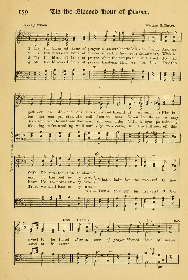 Northfield Hymnal: for use in evangelistic and church services, conventions, sunday schools, and all prayer and social meetings of the church and home page 161