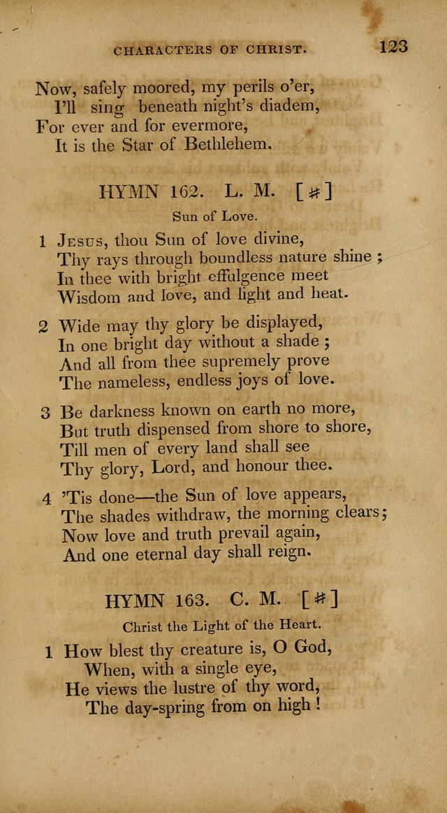 The New Hymn Book, Designed for Universalist Societies: compiled from approved authors, with variations and additions. Second Ed. page 134