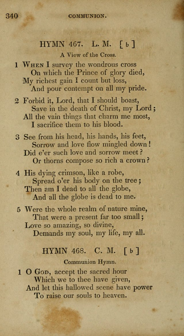 The New Hymn Book, Designed for Universalist Societies: compiled from approved authors, with variations and additions. Second Ed. page 351