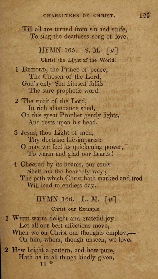The New Hymn Book, Designed for Universalist Societies: compiled from approved authors, with variations and additions (9th ed.) page 125