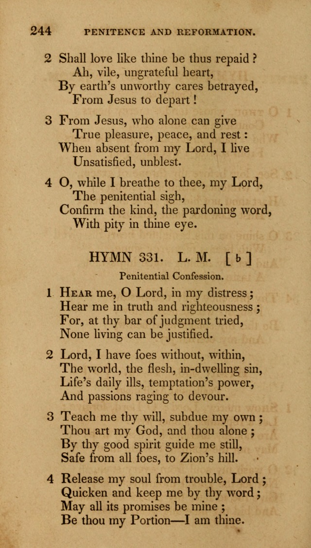 The New Hymn Book, Designed for Universalist Societies: compiled from approved authors, with variations and additions (9th ed.) page 244