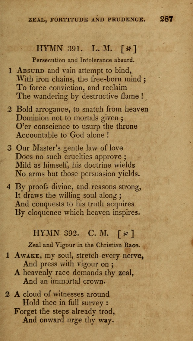 The New Hymn Book, Designed for Universalist Societies: compiled from approved authors, with variations and additions (9th ed.) page 287