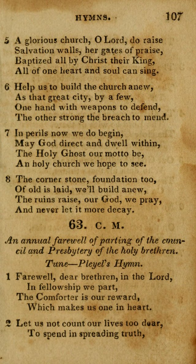 New Hymns and Spiritual songs, on different subjects, to be sung by all the holy brethren, and all that love the Lord page 114
