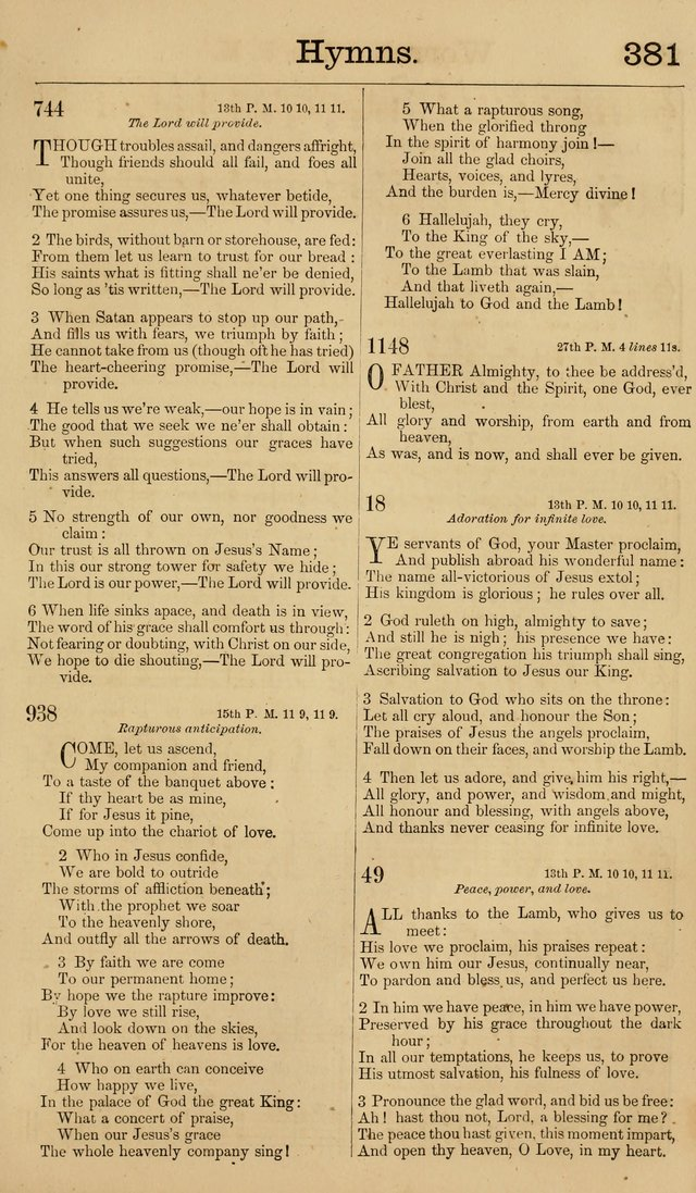 New Hymn and Tune book: an Offering of Praise for the Methodist Episcopal Church page 388