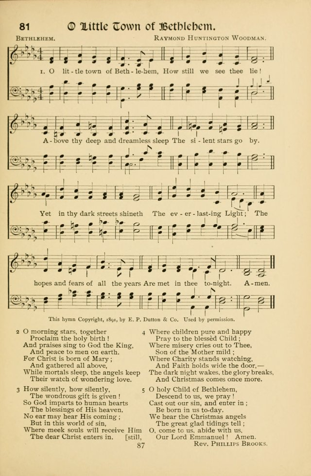 Northfield Hymns for Young People page 87