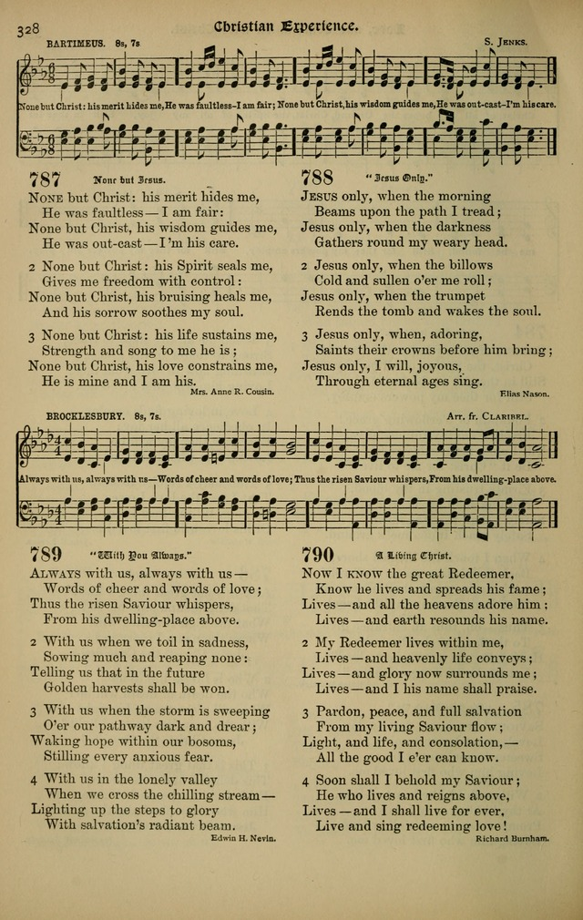 The New Laudes Domini: a selection of spiritual songs, ancient and modern for use in Baptist churches page 328