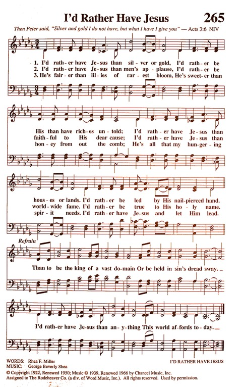 I'd Rather Have Jesus | Hymnary org