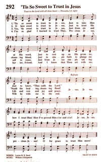 Tis So Sweet to Trust in Jesus   Hymnary org
