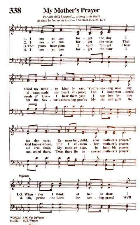 My Mother's Prayer   Hymnary org