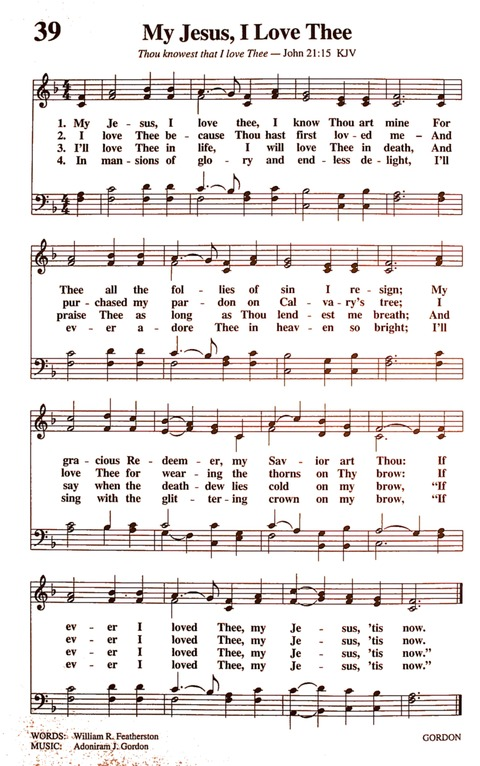 The New National Baptist Hymnal (21st Century Edition) page 42