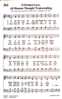 O perfect Love, all human thought transcending | Hymnary org