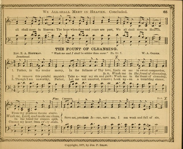 New pearls of song : a choice collection for Sabbath schools and the home circle page 65