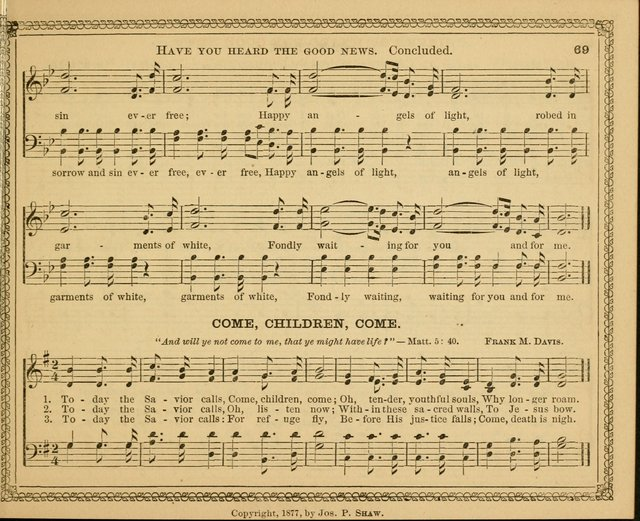 New pearls of song : a choice collection for Sabbath schools and the home circle page 69