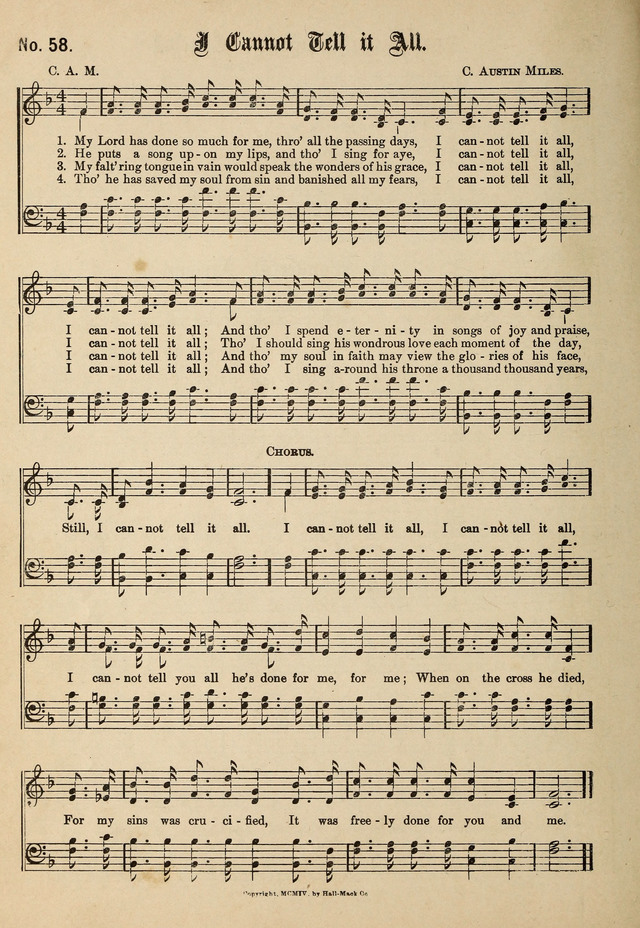 New Songs of the Gospel No. 2: for use in religious meetings page 54