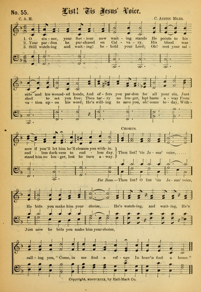 New Songs of the Gospel (Nos  1, 2, and 3 combined) 55  O