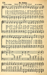 he abides hymnary org