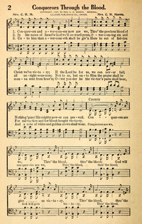 Conquerors Through The Blood Hymnary