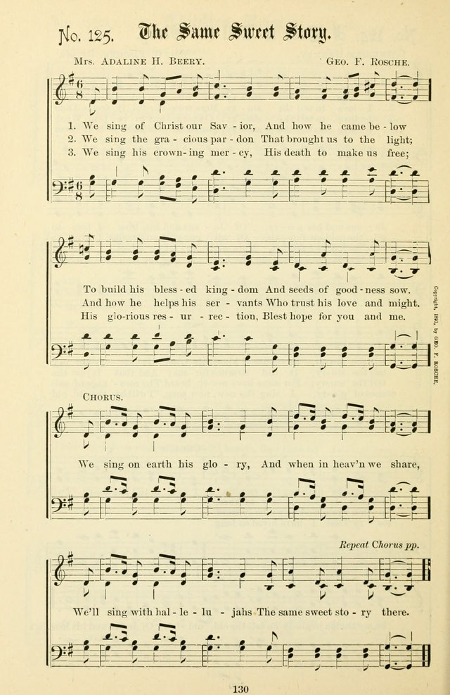 The New Song: for the Sunday school, societies of Christian Endeavor, and other religious exercises page 130