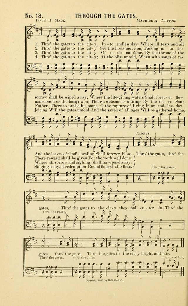 New Songs of the Gospel: for use in all religious meetings page 18