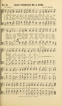 Jesus promised me a home - Hymnary.org