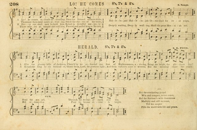 The New York Choralist: a new and copious collection of Psalm and hymn tunes adapted to all the various metres in general use with a large variety of anthems and set pieces page 208