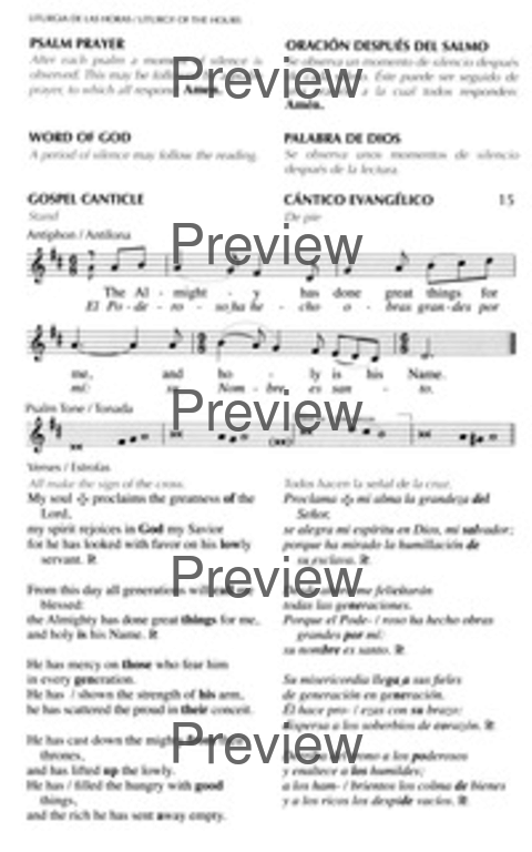 The Song of Mary (Magnificat) (Antiphonal)   Hymnary org