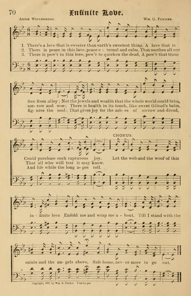 Our Hymns: compiled for use in the services of the Baptist Temple page 70