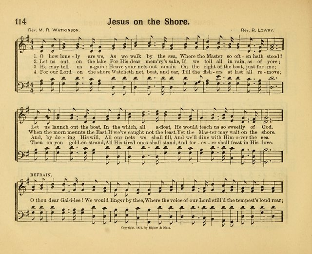 Our Song Book : a collection of songs selected and edited expressly for the Sunday School of the First Baptist Peddie Memorial Church, Newark,N. J. page 113