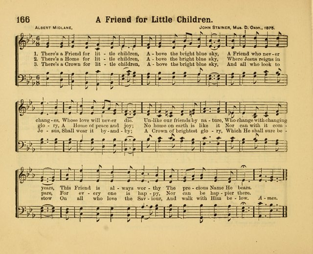 Our Song Book : a collection of songs selected and edited expressly for the Sunday School of the First Baptist Peddie Memorial Church, Newark,N. J. page 165