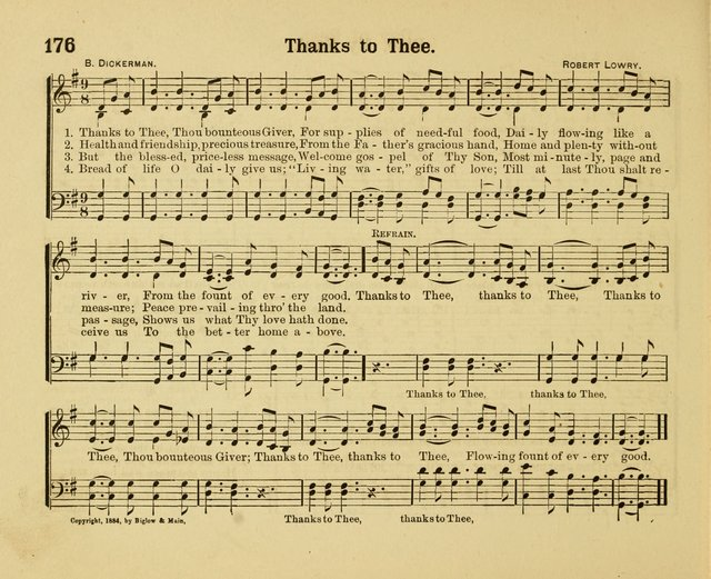 Our Song Book : a collection of songs selected and edited expressly for the Sunday School of the First Baptist Peddie Memorial Church, Newark,N. J. page 175