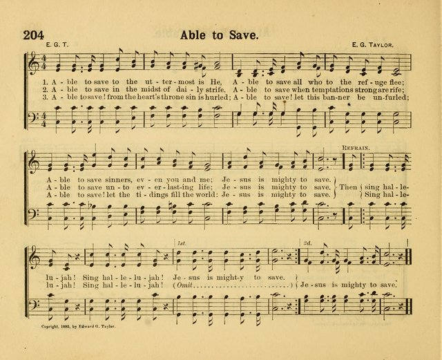 our song book   a collection of songs selected and edited expressly for the sunday school of the first baptist peddie memorial church newarkn  j   1890      able to save to the uttermost   hymnary org  rh   hymnary org