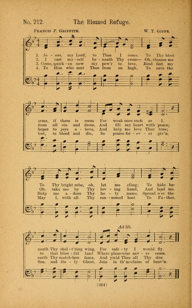 Onward and Upward No. 2: a collection of gospel songs and hymns for Sunday-schools, Endeavor societies, Epworth leagues, devotional meetings, chapel exercises, revivals, etc. page 104