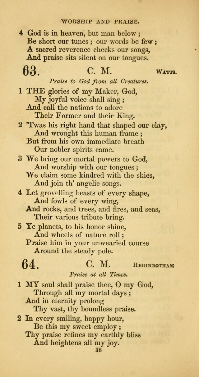 The Psalmody: a collection of hymns for public and social worship page 103
