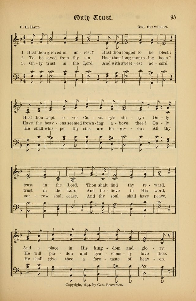 The Peacemaker: a collection of sacred songs and hymns for use in all services of the church, Sunday-school, home circle, and all kinds of evangelistic work page 95