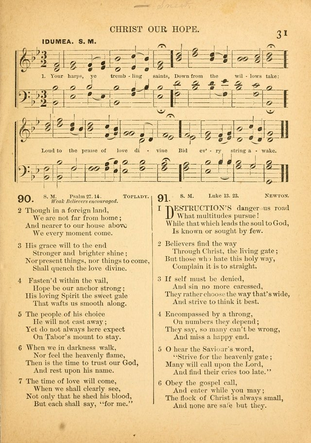 The Primitive Baptist Hymnal: a choice collection of hymns and tunes of early and late composition page 31